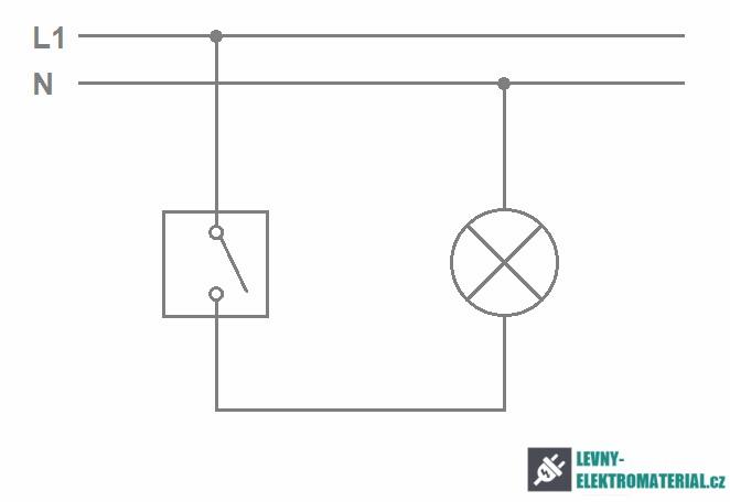 Nejběžnější schéma zapojení vypínačů