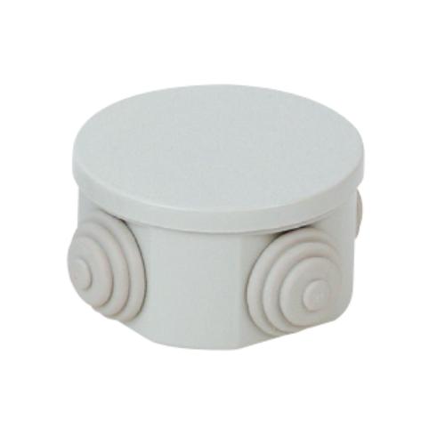 Montážní krabice kruhová CP 1037 IP44, s gumovými vývodkami a zaklapávacím víkem, rozměr 85x45 mm (Cetinkaya CP1037)